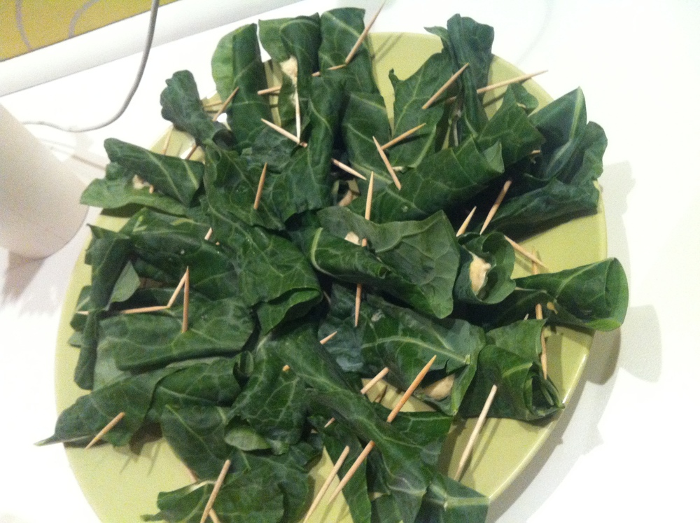 Collard wrap apps. FUN!