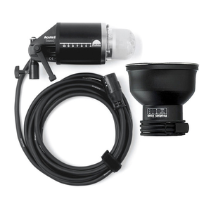 THE  PROFOTO ACUTE 2-D4  MODULAR FLASH HEAD DESIGN FEATURES A CIRCULAR, HEAVY DUTY, QUARTZ FLASH TUBE AND UV COATED PROTECTION DOME THAT SURROUNDS BOTH THE FLASH TUBE AND THE 250W MODELING LIGHT. IT PROVIDES EVEN, CONSISTENT ILLUMINATION. ALL LAMP HEAD CABLES FEATURE PROFOTO SPECIAL CONNECTORS FOR ARC-PROOF PERFORMANCE. ALL ACUTE 2-D4, 2, AND ACUTE HEADS ACCEPT THE SAME MODULAR LIGHT SHAPING TOOLS.