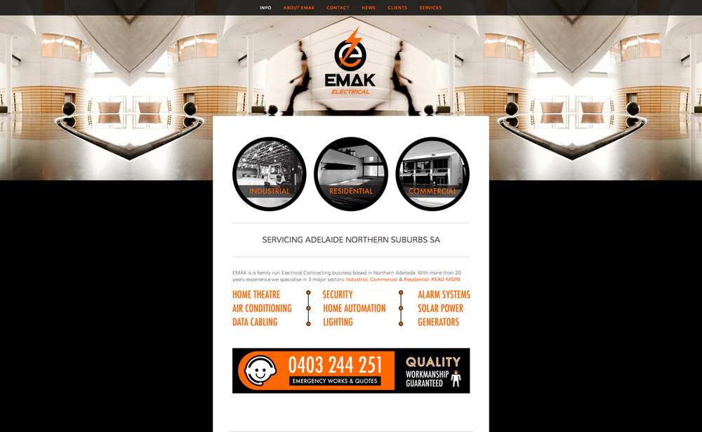EMAK Electrical Contracting - Website Design by White Tiger Creative