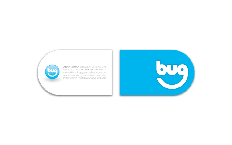 BUG business card design