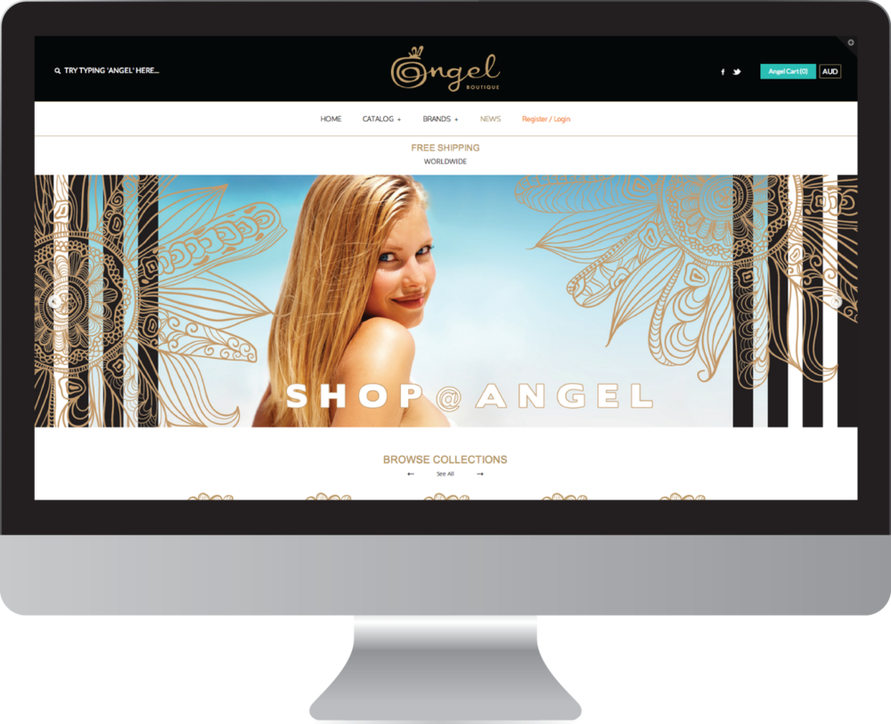 Angel Boutique Website Design
