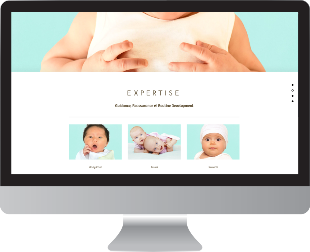 Baby Care Parallax Web Design