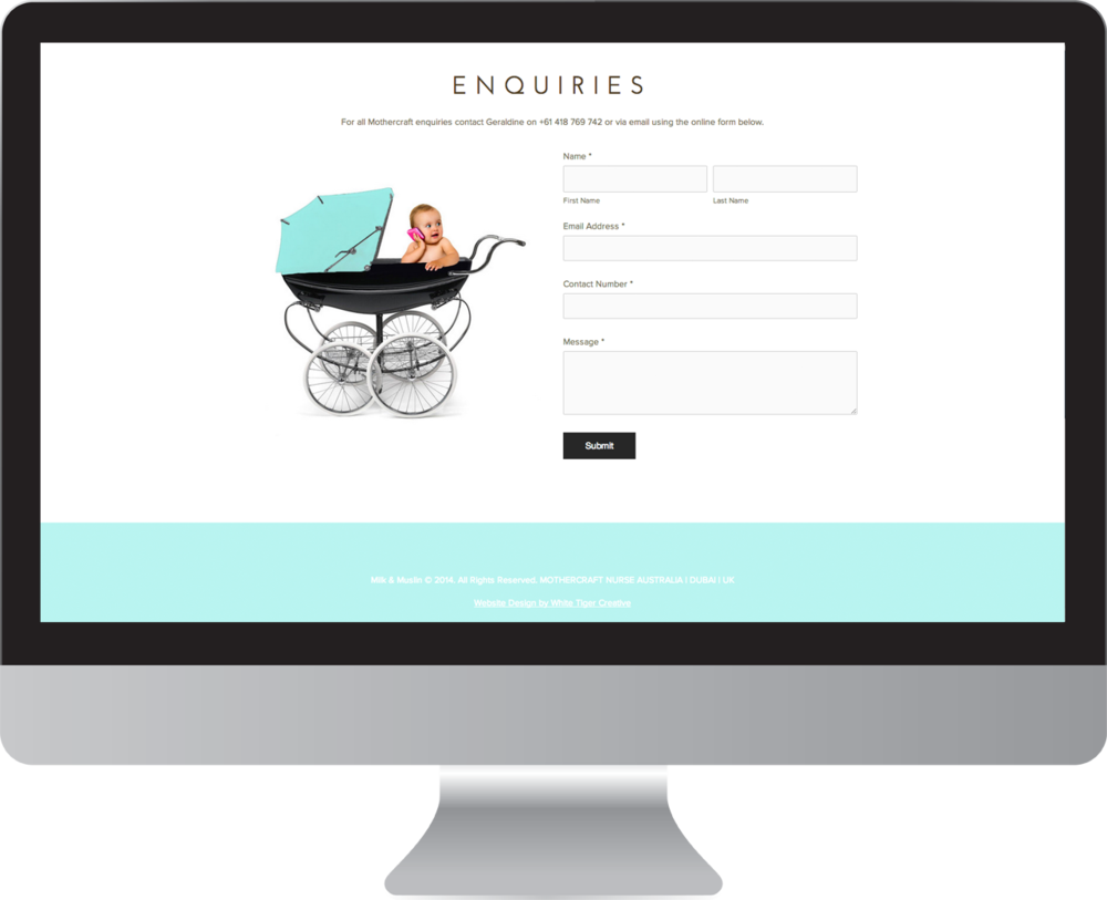 Baby website design Byron Bay