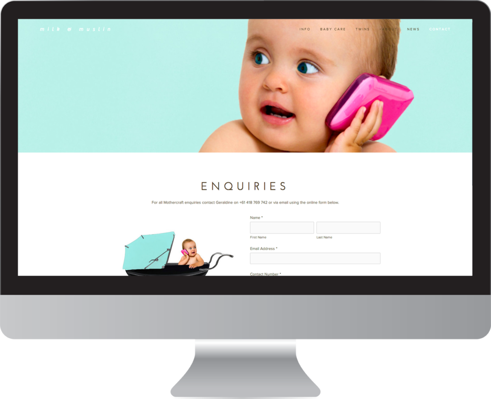 Baby Website Design by White Tiger Creative