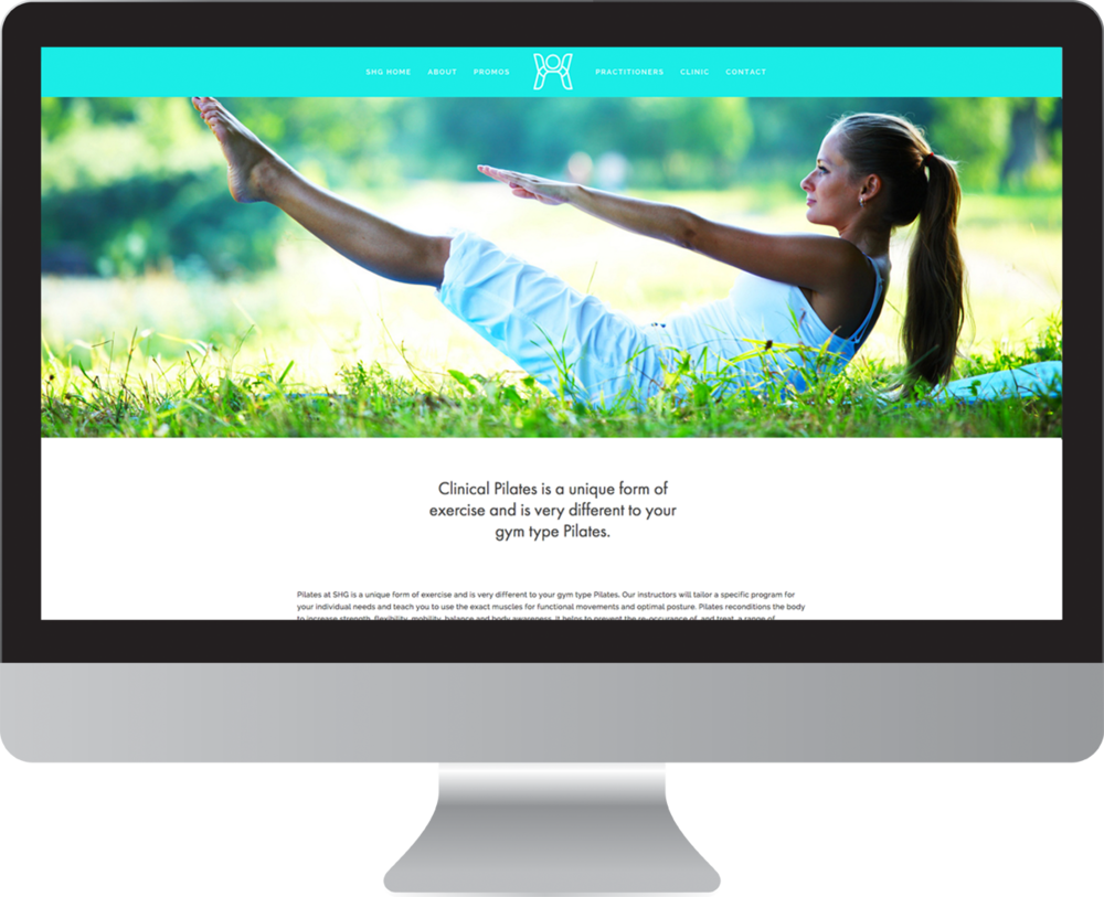Seaview Health Group Pilates Website Design