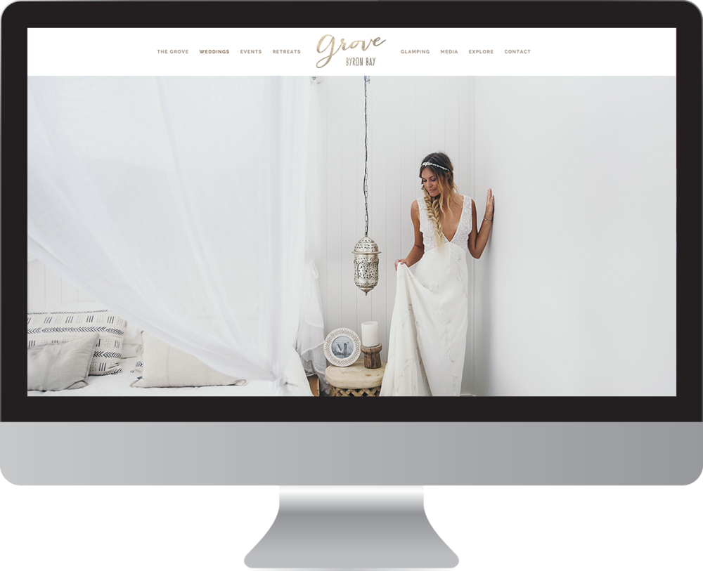 The Grove Byron Bay website design