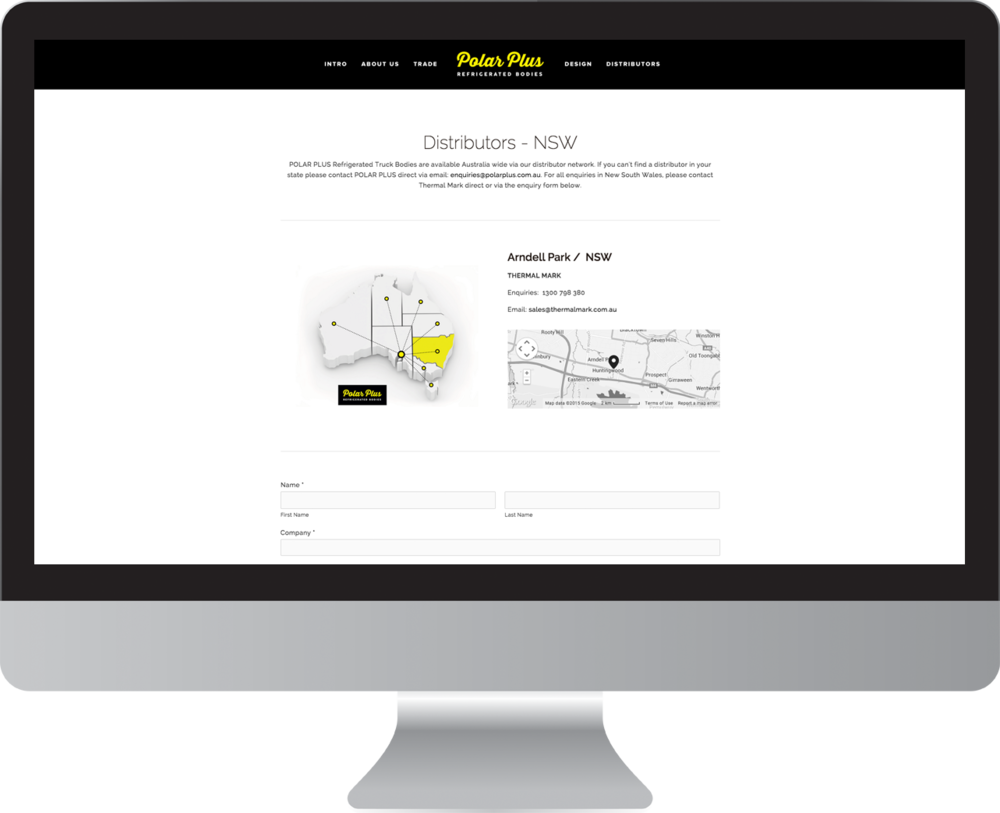 Polar Plus Refrigerated Bodies Website Design