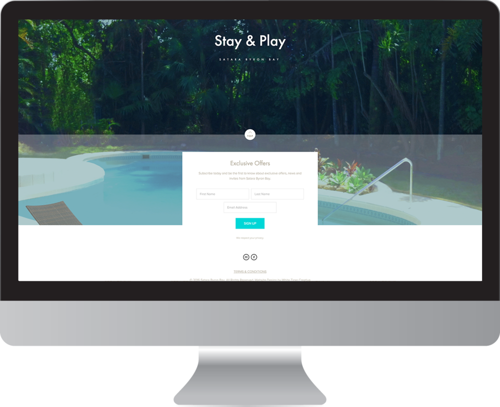 Satara Byron Bay website design