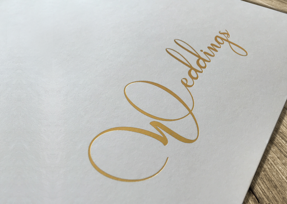 Gold Foil - Wedding Brochure
