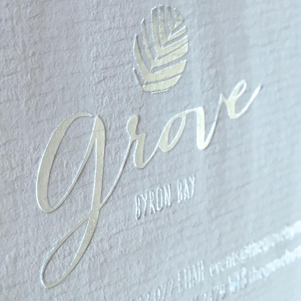 The Grove Byron Bay Business Card Design
