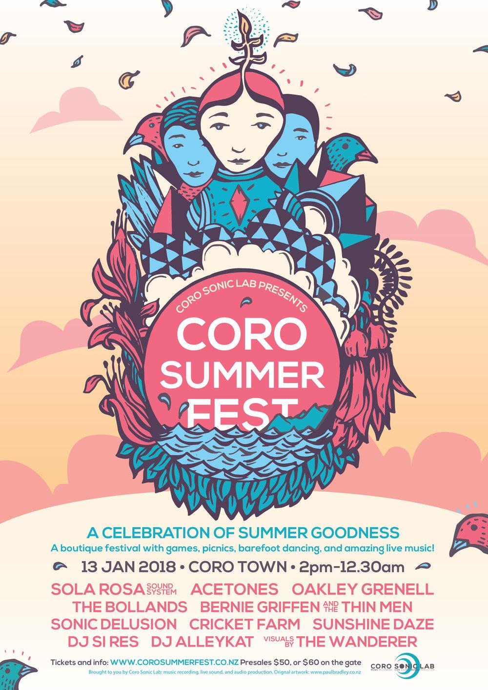 Coro Summer Fest poster