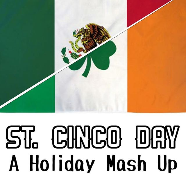 """St. Cinco Day"" - Half way between St. Patrick's Day and Cinco de Mayo on April 11th lives a best of both worlds, new holiday.  We mashed these days together and created a fun playlist. (Link in bio) . . . . . . #stpatricksday #cincodemayo #stcincoday #saintcincoday #april11 #april11th #irishmexican #irishsalsa #guiness #corona #borderlessjams #holidaymashup #bestofbothworlds #fusion #launicamusic #tbt"