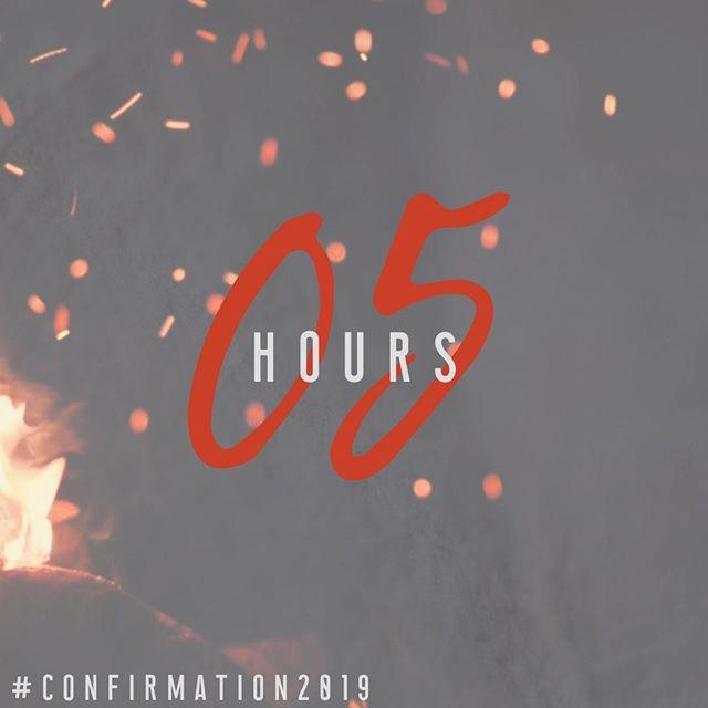 FINAL COUNTDOWN!! #comeholyspirit #confirmation2019