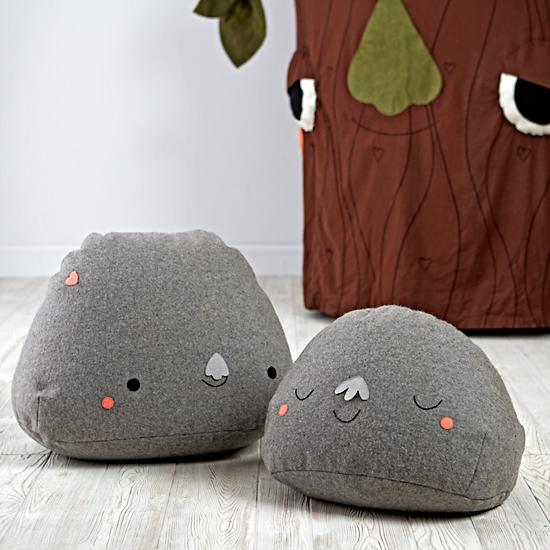 Our Boulder Buddy Pouf is the softest rock to have ever been discovered. It's super comfy to sit on and features a super friendly face. It also weighs much less than an actual boulder buddy. Designed exclusively for us by Hi Tree.