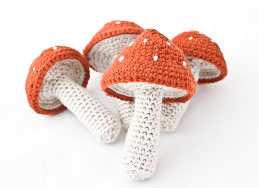 Mushroom Baby Rattle
