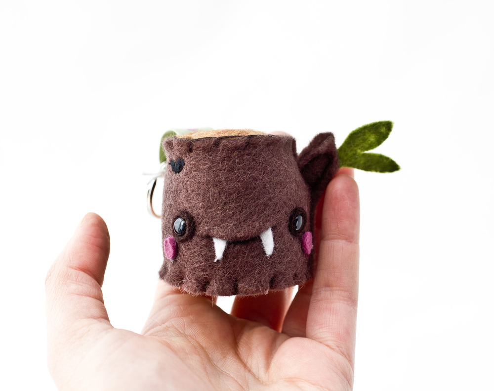 Tiny Vampire Stump Keychain