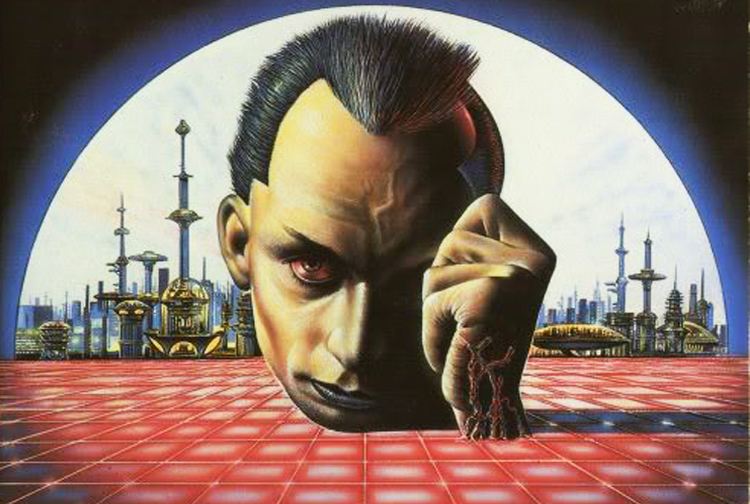 Ilustracja okładkowa Steve'a Crispa do brytyjskiego wydania Neuromancera; w Polsce wykorzystana na okładce pierwszego wydania Trzech stygmatów Palmera Eldritcha Philipa K. Dicka.