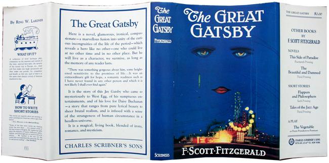 Obwoluta pierwszego wydania Wielkiego Gatsby'ego. Autorem ilustracji jest Francis Cugat.