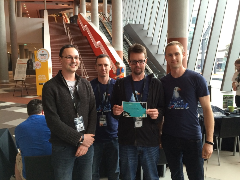 Sam, Paul, Drew and Chris win with Defect at Unite Melbourne.