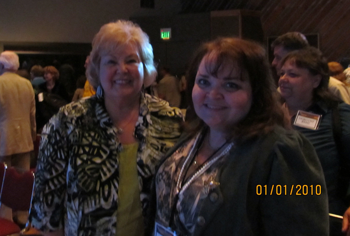 Gloria Gaither and I.