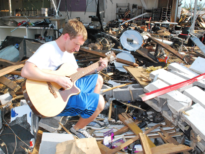 No matter where a disaster strikes, the healing power of music will survive.