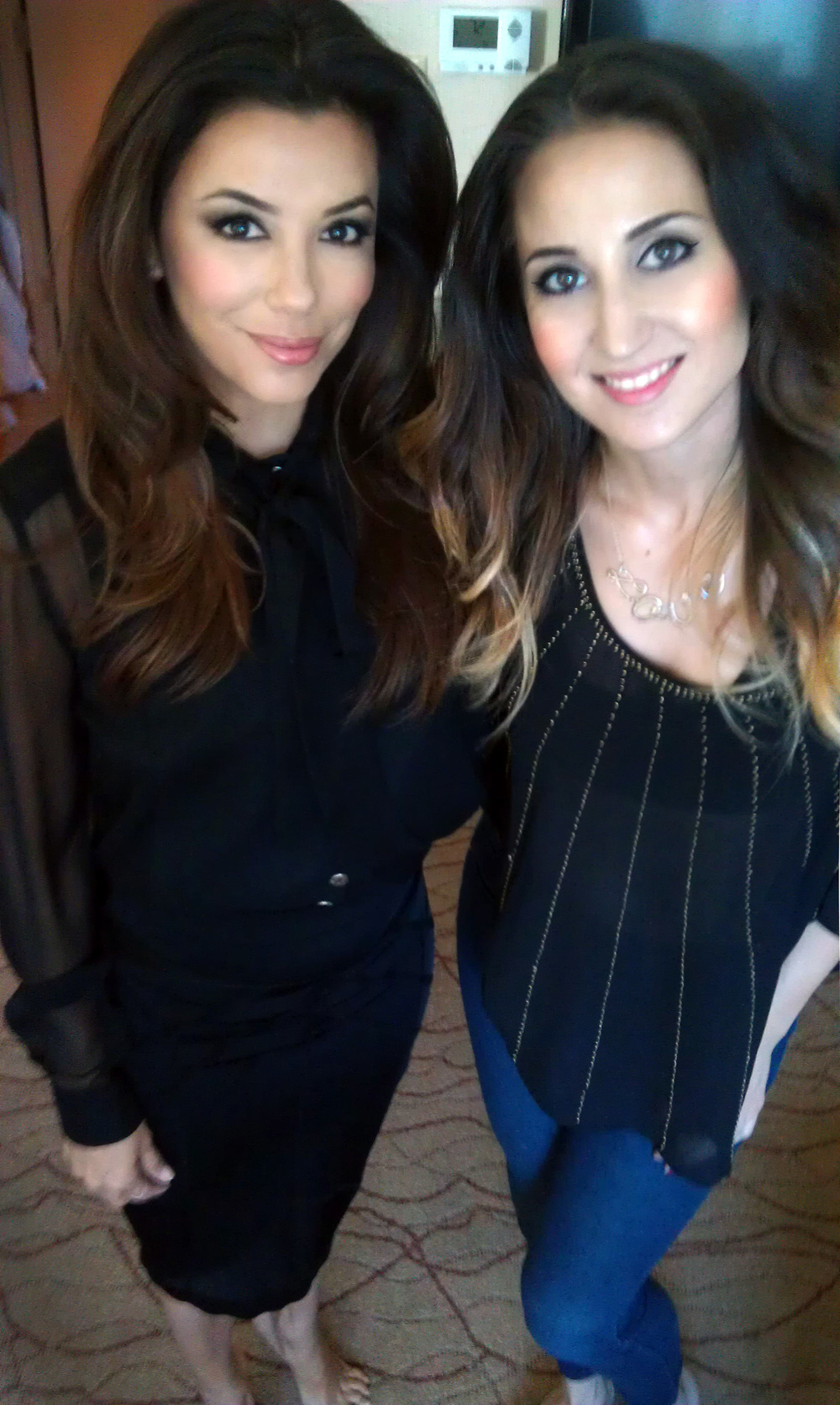 Lauren Clark and Eva Longoria. June 2013