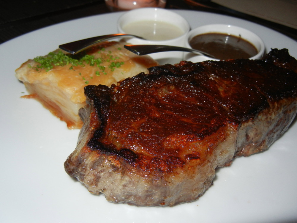 NY Strip 14 oz with Potato Gratin ($32)