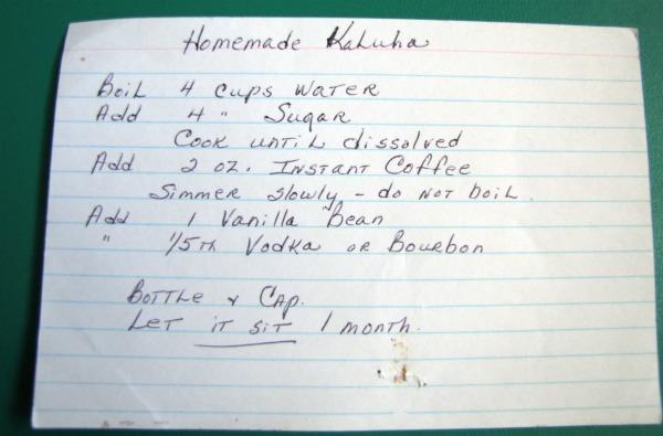Easy recipe for homemade kahlua
