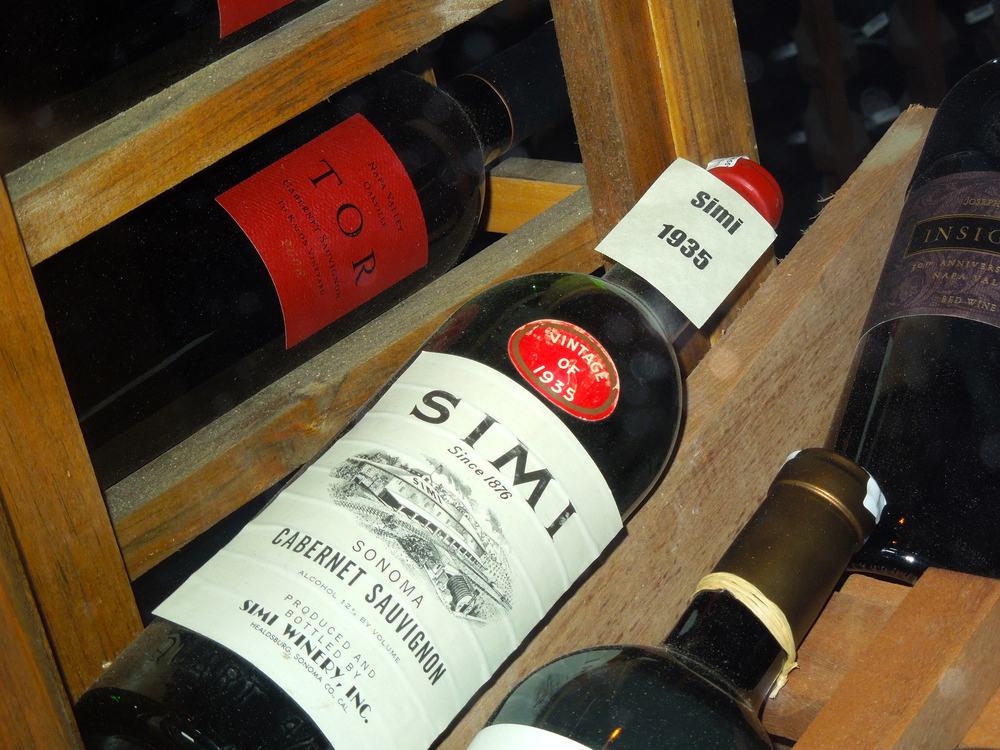 The first bottle of Simi produced after the repeal of Prohibition.