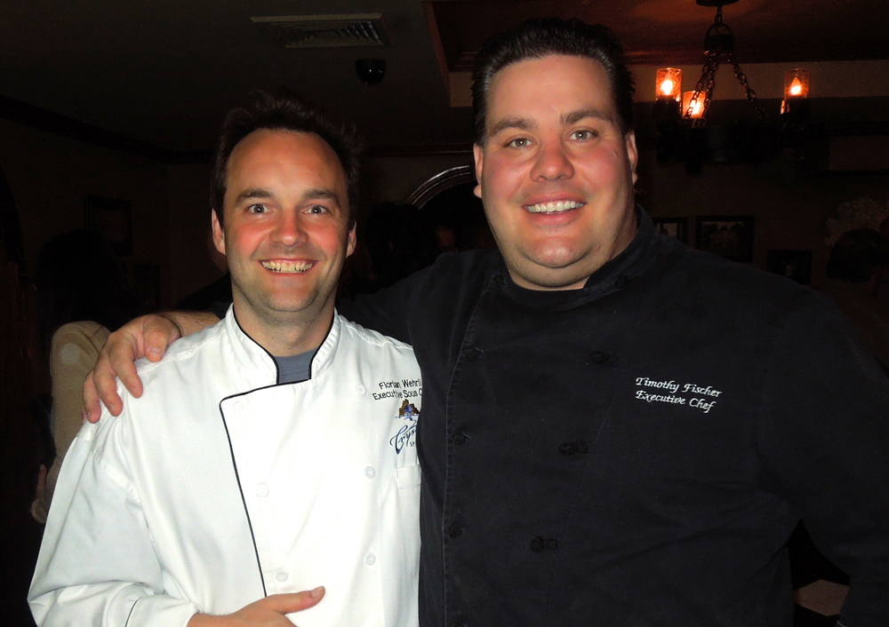 with Chef Timothy Fischer in the Bordeaux Room at the Latour Wine Cellar.