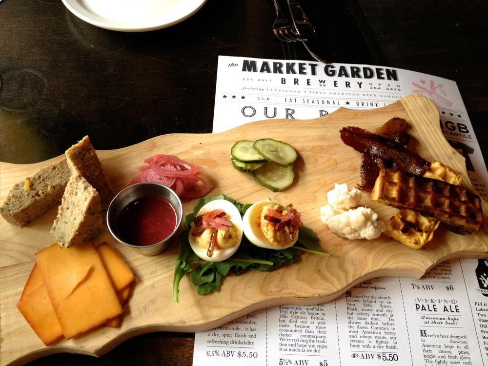 Breakfast platter at Market Garden in Ohio City