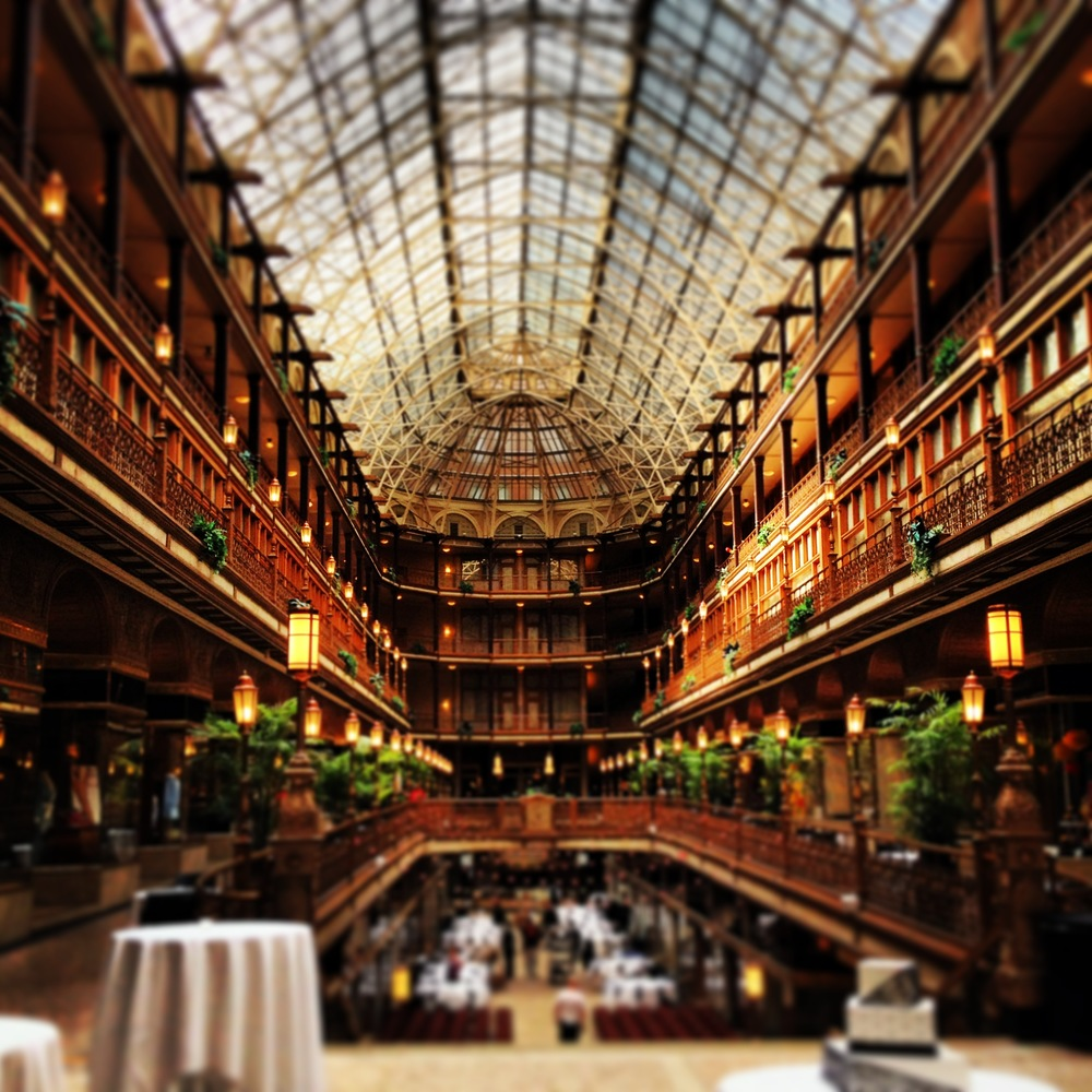 The historic Cleveland Arcade