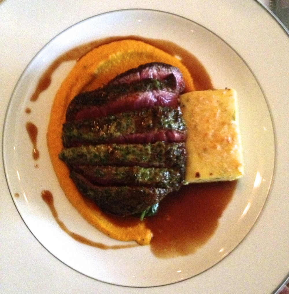 Flat Iron Steak with Toasted Cumin Carrot Puree