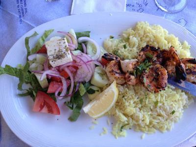 Grilled Shrimp Kebab