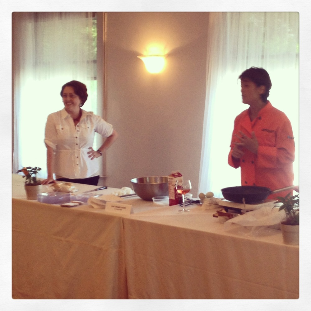 Lily Hodge and Ariane Duarte at Foie Gras Seminar