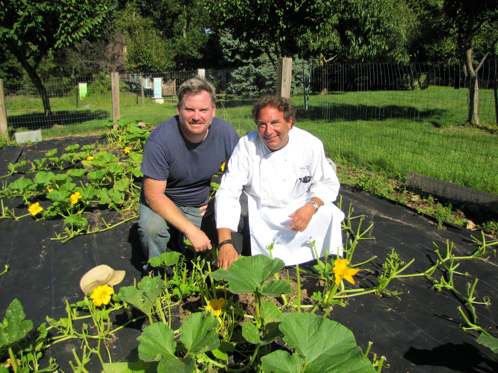 Michael Conti with Highlawn Pavilion Executive Chef, Mitchell Altholz