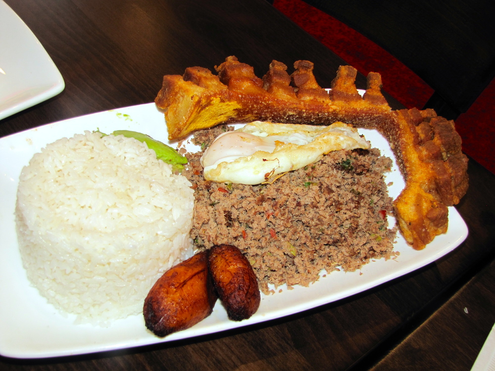 Bandeja Paisa with ground beef