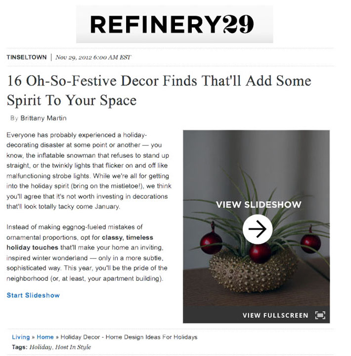 refinery29 - gift guide - december 2012