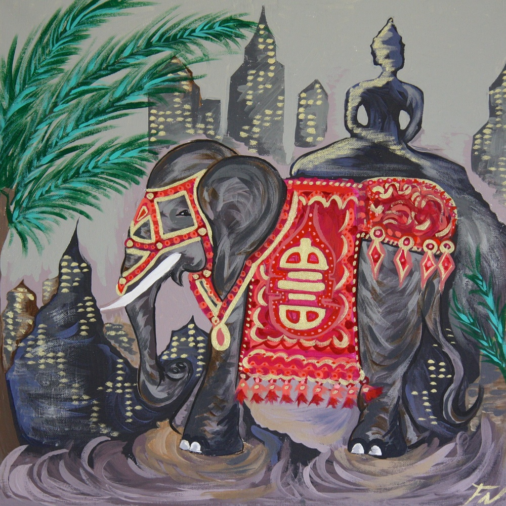 lephant Painting ize 50x50c Contact Feike for pricing info