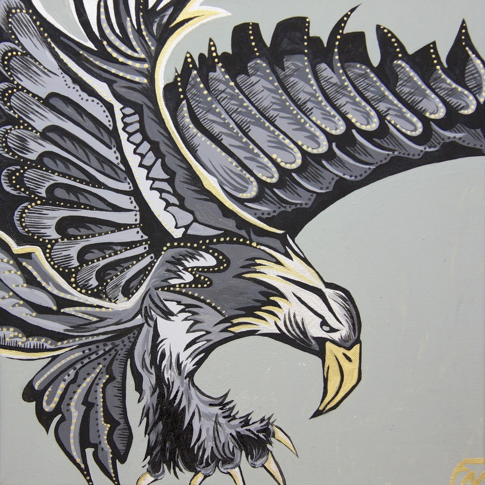 Eagle Painting Size 40x40cm Contact Feike for pricing info