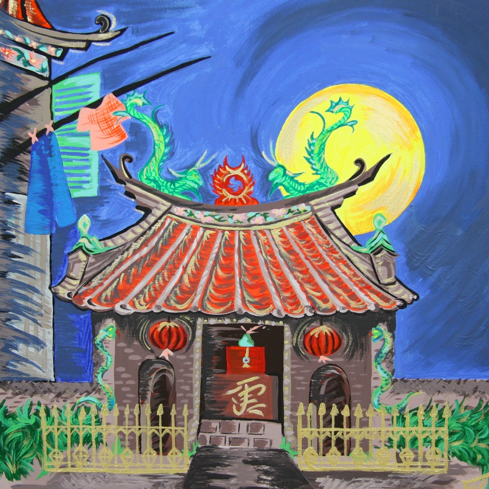 Chinese Temple Painting Size 50x50cm Contact Feike for pricing info
