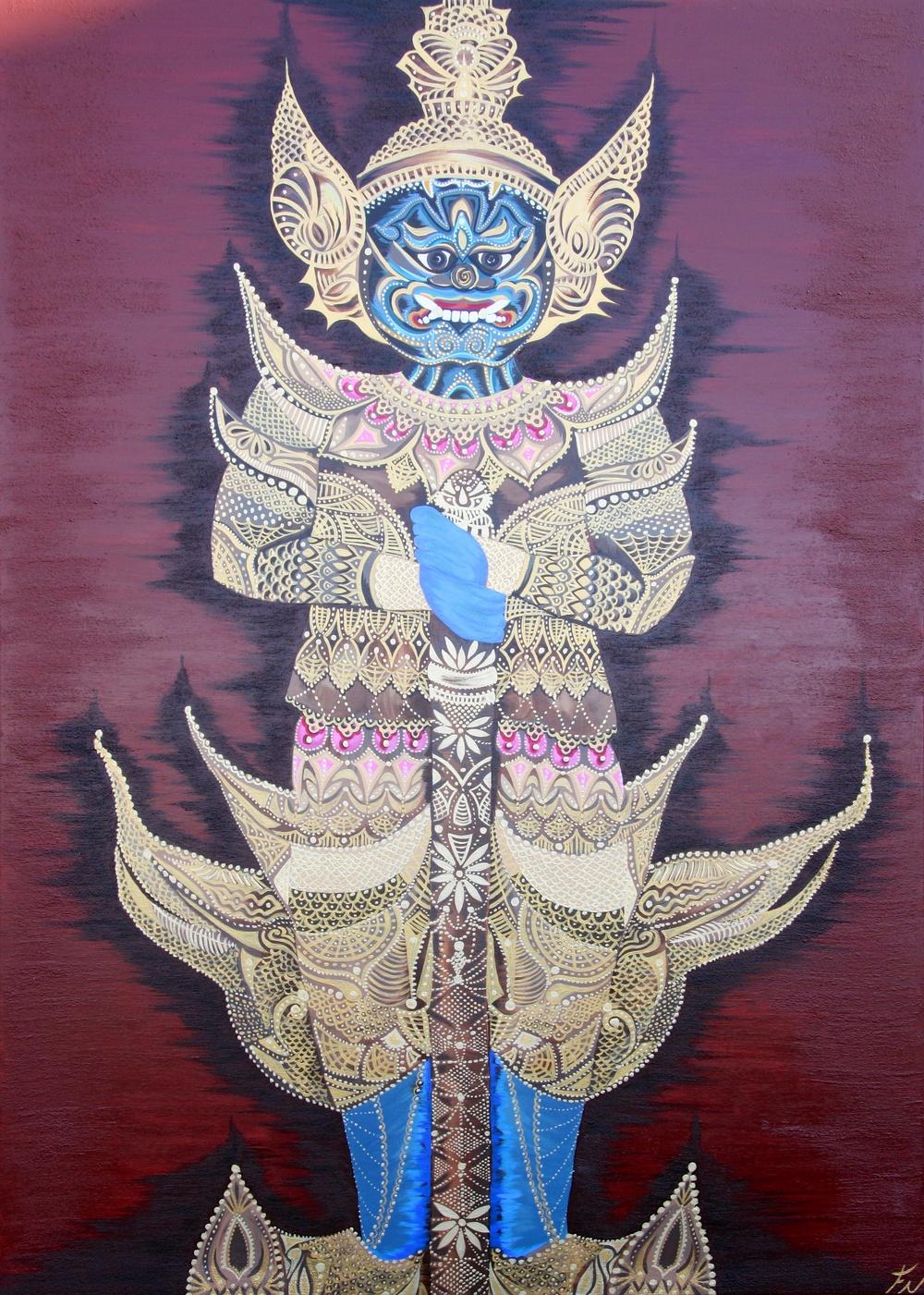 Thai Gatekeeper Painting