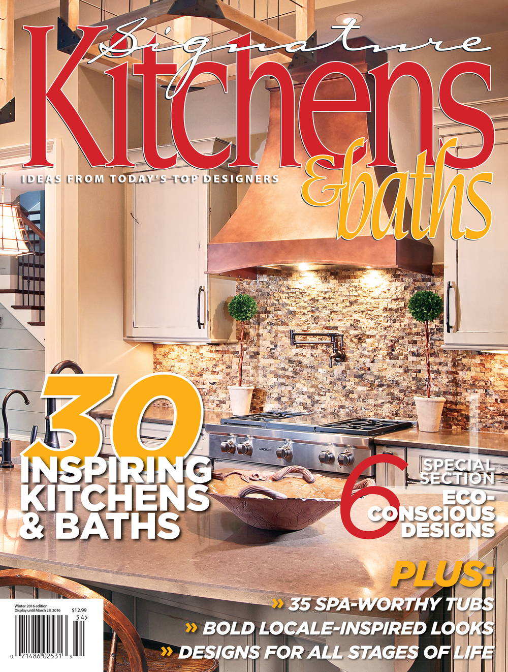 LOCAL KITCHEN DESIGNED BY SPLASH ON COVER OF WINTER 2016 MAGAZINE!