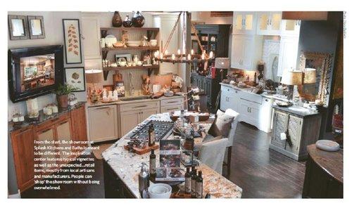 Kitchen And Bath Magazine splash kitchens & baths of lagrange, ga. featured in national
