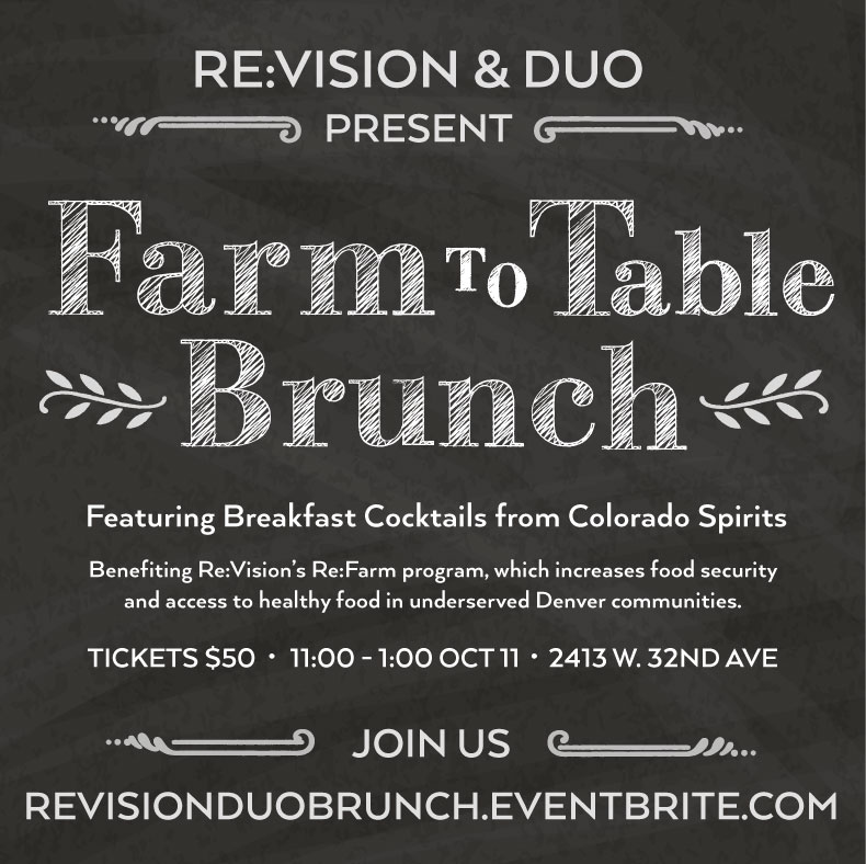 ReVisions FarmtoTable Brunch Silent Auction ReVision - Farm to table denver