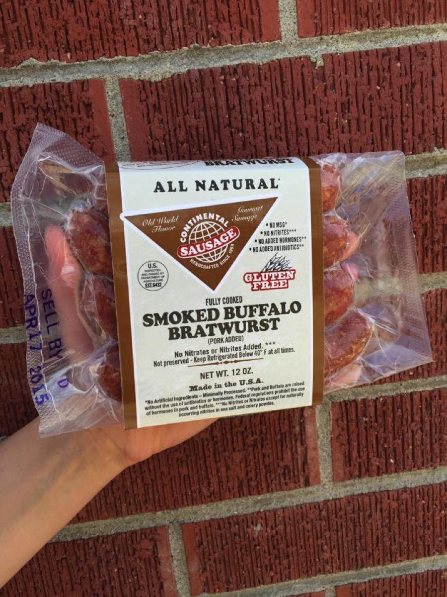 Smoked Buffalo Bratwurst