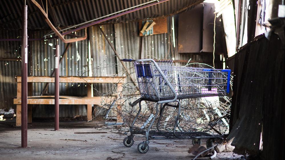 Food Desert Blight Empty Shopping Cart