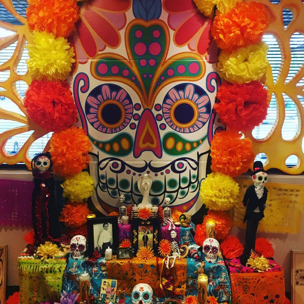 An example of a traditional altar from Denver's Mexican Cultural Center (2017)