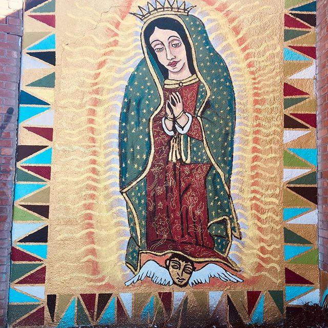 Hoy celebramos La Virgen de Guadalupe...has visto el mural de @volarduran en Morrison Rd.? Visita nuestra vecindario para ver esta hermosura!