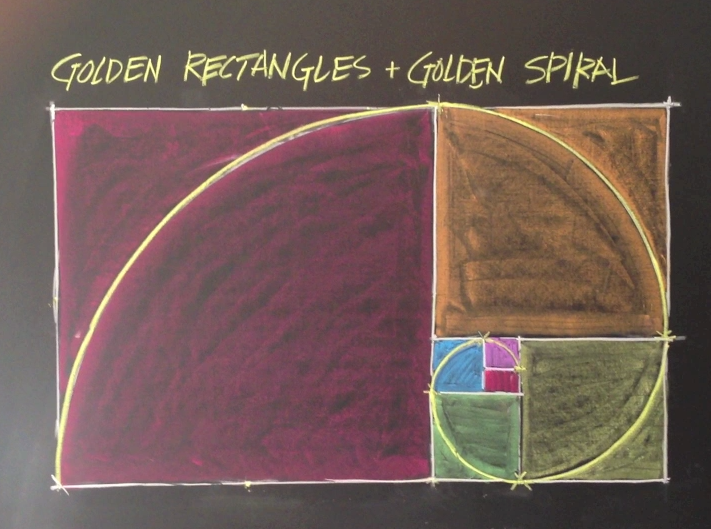 Geometric chalk drawing: Golden Rectangles    (click image to purchase)   Waldorf teacher Brian Wolfe is back again in another beautiful 10 minute video discussing the golden ratio (divine proportion) and its place in the world around. Students will learn about diameter, circumference, radius, arcs, using a compass, how to square a circle and make a golden rectangle and spiral. Mr. Wolfe gives some ideas on how to incorporate these golden rectangles/spirals from art and history into other main lessons.    Price: $15.00